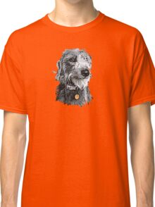 Cute stylized scruffy pup Classic T-Shirt