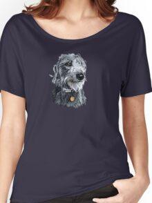 Cute stylized scruffy pup Women's Relaxed Fit T-Shirt
