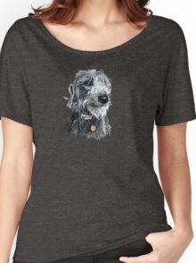 Cute stylized scruffy pup Women's Relaxed Fit T-Shirt