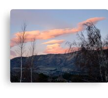 Painted Clouds - Sunrise Wanaka - NZ Canvas Print