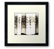 the curtain Framed Print