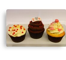 Valentine Cupcakes... - By Haydene - NZ Canvas Print