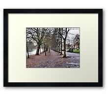 EMPTY TREES AND AN EMPTY EMBANKMENT. Framed Print