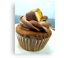 Crunchy Choc Delight - Cupcake - NZ   Canvas Print