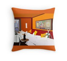 Corky the Sommelier Throw Pillow