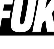 EFUKT - Black Text Logo T-shirts Sticker