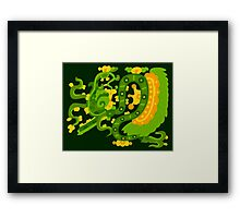 Mayan feathered snake Framed Print