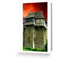 Stokesay Castle Greeting Card