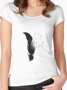 Birds Flying Out Of A Feather Women's Fitted Scoop T-Shirt