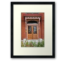 An uncommon portal Framed Print