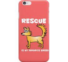 Rescue dog iPhone Case/Skin