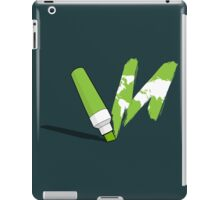 Painted green iPad Case/Skin