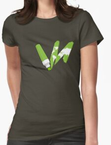 Painted green Womens Fitted T-Shirt