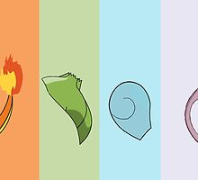 pokemon squirtle charmander bulbasaur mewtwo by lizzielizard