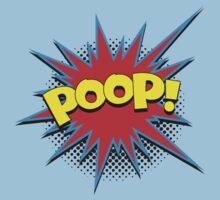 Funny Comic Word Starburst POOP Kids Clothes