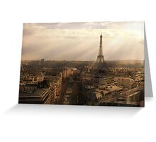 Eiffel Sunset Greeting Card