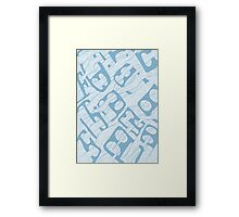 Flowing Faces Framed Print