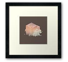Pastel Vintage Cubes Framed Print