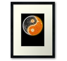 Yin Yang Like the Sun and Moon  Framed Print