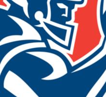 American Football Player Ball Side Shield Sticker