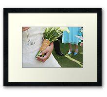 Bride's Flowers Framed Print