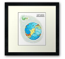 Arcaron planet Framed Print