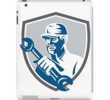 Mechanic Holding Spanner Wrench Shield Retro iPad Case/Skin