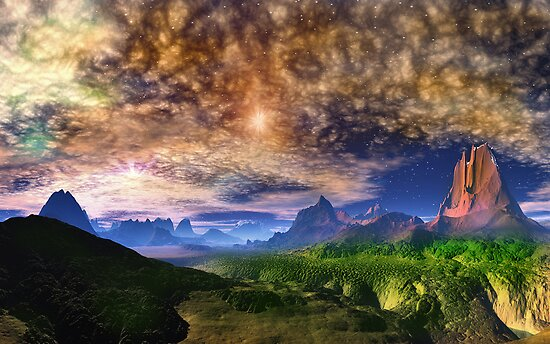 Skyscape - Twin Sun's by AlienVisitor