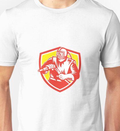 Sandblaster Sandblasting Hose Shield Retro Unisex T-Shirt