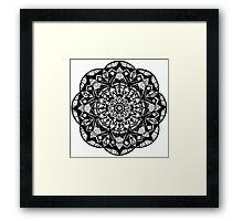 Mandala Pattern Framed Print