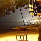 Samui beach at night by K.D. Hemi