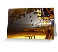 Samui beach at night Greeting Card