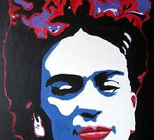 Portrait of Frida Kahlo by artbyengels