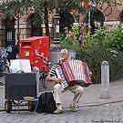 Antwerp Street Musician by Gilberte