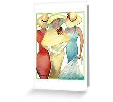 THREE LADIES Greeting Card