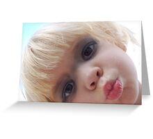 Give Us A Kiss Miss Pris Greeting Card