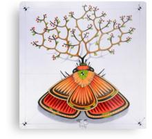 tree - moth Metal Print