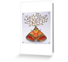 tree - moth (original sold) Greeting Card