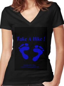 TAKE A HIKE  Women's Fitted V-Neck T-Shirt
