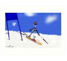Corky @ the slopes Art Print