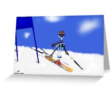 Corky @ the slopes Greeting Card