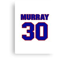 National football player Bill Murray jersey 30 Canvas Print