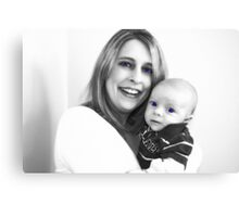 Mother and Son Enhanced Canvas Print