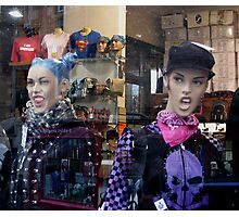 Window Dressing With Attitude Photographic Print