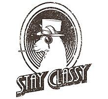 Stay Classy Llama Photographic Print