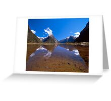 Milford Sound Reflections. New Zealand Greeting Card