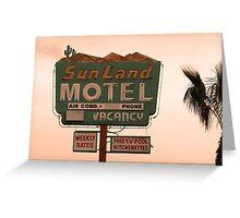 Sunland Motel Greeting Card