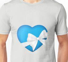 Valentine Blue Heart Unisex T-Shirt