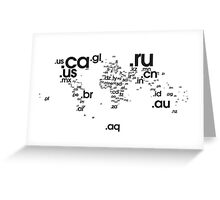 World Wide Web (Black) Greeting Card