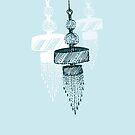 trio chandelier (in baby blue) by Tiffany Atkin